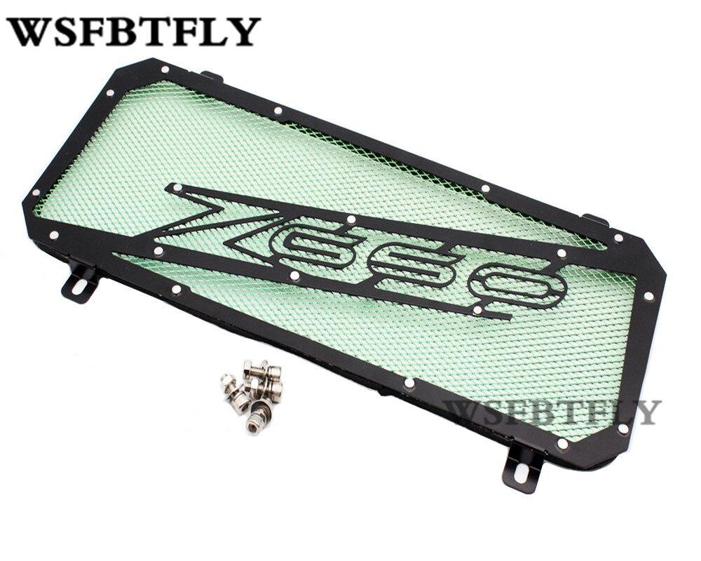 Зеленый передняя решетка радиатора гвардии защитная крышка для Kawasaki Z650 Z 650 2016-2017 16 17
