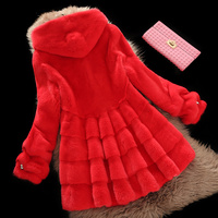 2019 winter new whole mink fur coat women's long section with hooded pineapple sleeves fashion mink fur coat