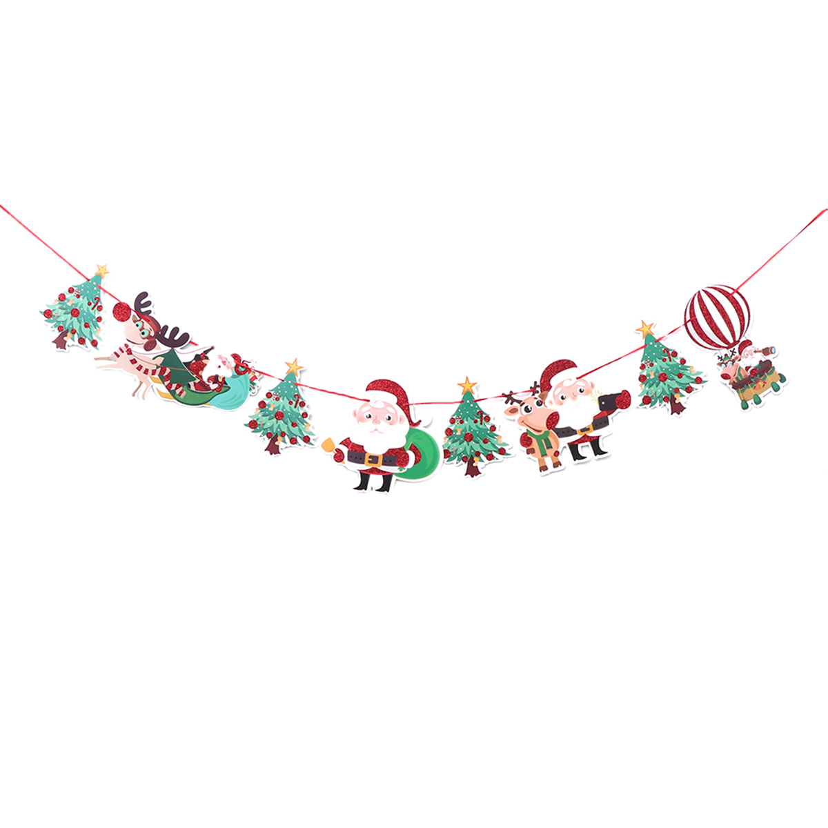Merry Christmas Banner Bunting Hanging Flag Pendant Xmas Holiday Party Decor New