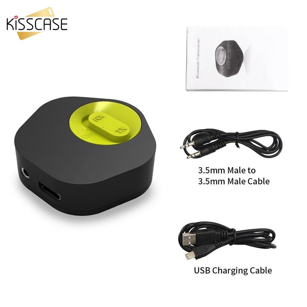bilder für KISSCASE Mini Bluetooth Empfänger Sender Combo Drahtlose Bluetooth Adapter Für Smartphone TV PC Stereo Bluetooth 4,1 APTX SBC