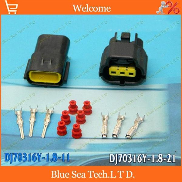 2sets Waterproof 8 Pin Connector Plug Electrical Car Motorcycle HID