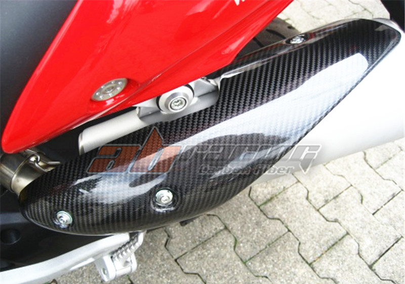 Exhaust Heat Shields For Ducati Monster 696 796 795 1100 Full Carbon Fiber  100% Twill for ducati monster diesel 696 750 795 796 1100 2009 2010 2011 2012 2015 rear tail light brake turn signals integrated led light