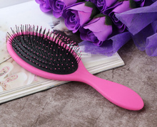 1pc pink wet hair brush tangle detangling comb beauty pinceis styling tools Indian Brazilian pincel wet dry hair
