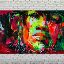 Palette knife portrait Face Oil painting Character figure canvas Hand painted Francoise Nielly wall Art picture 1