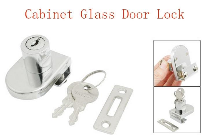 Showcase Display Cabinet Glass Door Lock Replacement + Keys 2pcs ...