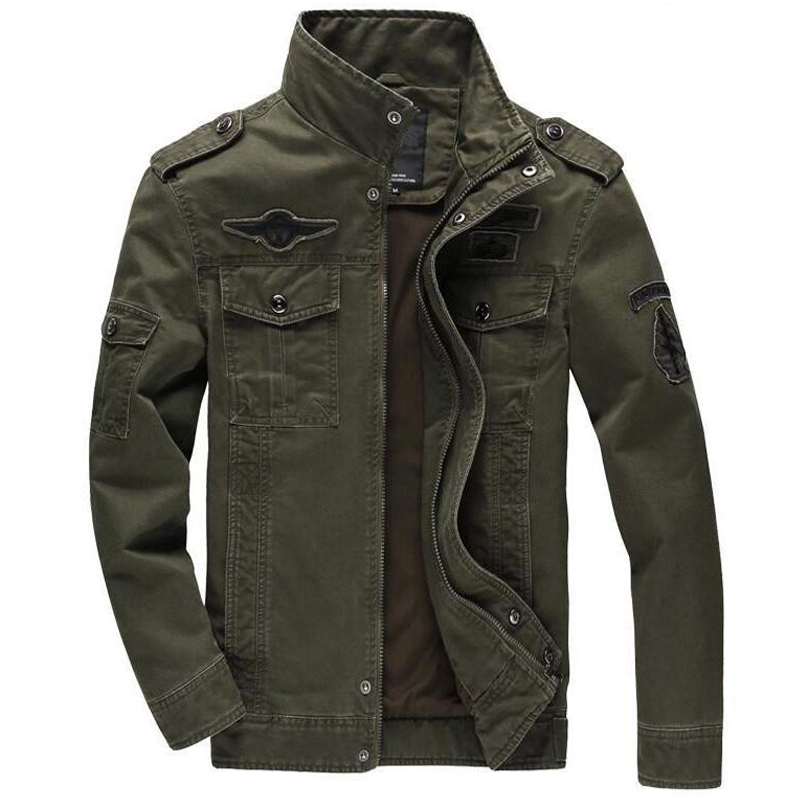 Men Military Army jackets Brand clothing plus size 5XL 6XL outerwear embroidery mens jacket-in Jackets from Men's Clothing    1