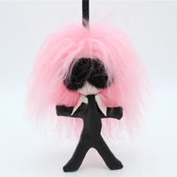 2017 Fashion Lafayette Real Mink Fur Plush Pompoms Keychain Natural Beach Wool Key Chain Bag Car