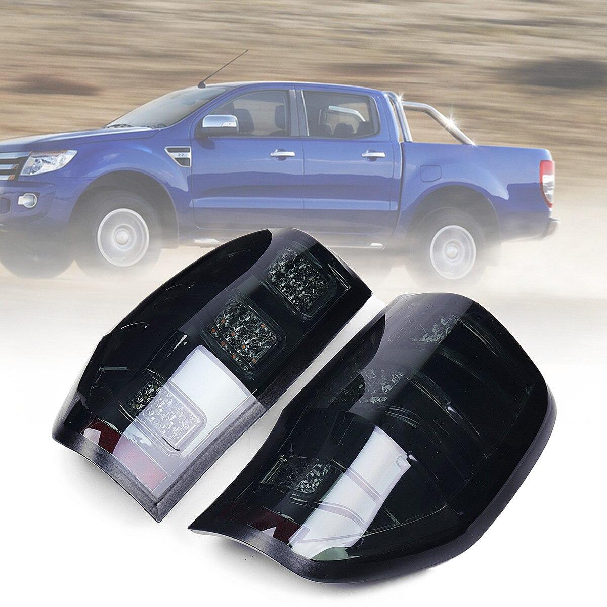 Autoleader 2 шт. автомобиля светодиодный сзади задние фонари стоп Копченый для авто Ford Ranger 2012 2018 света ABS размеры приблизительно 27 х 43 см