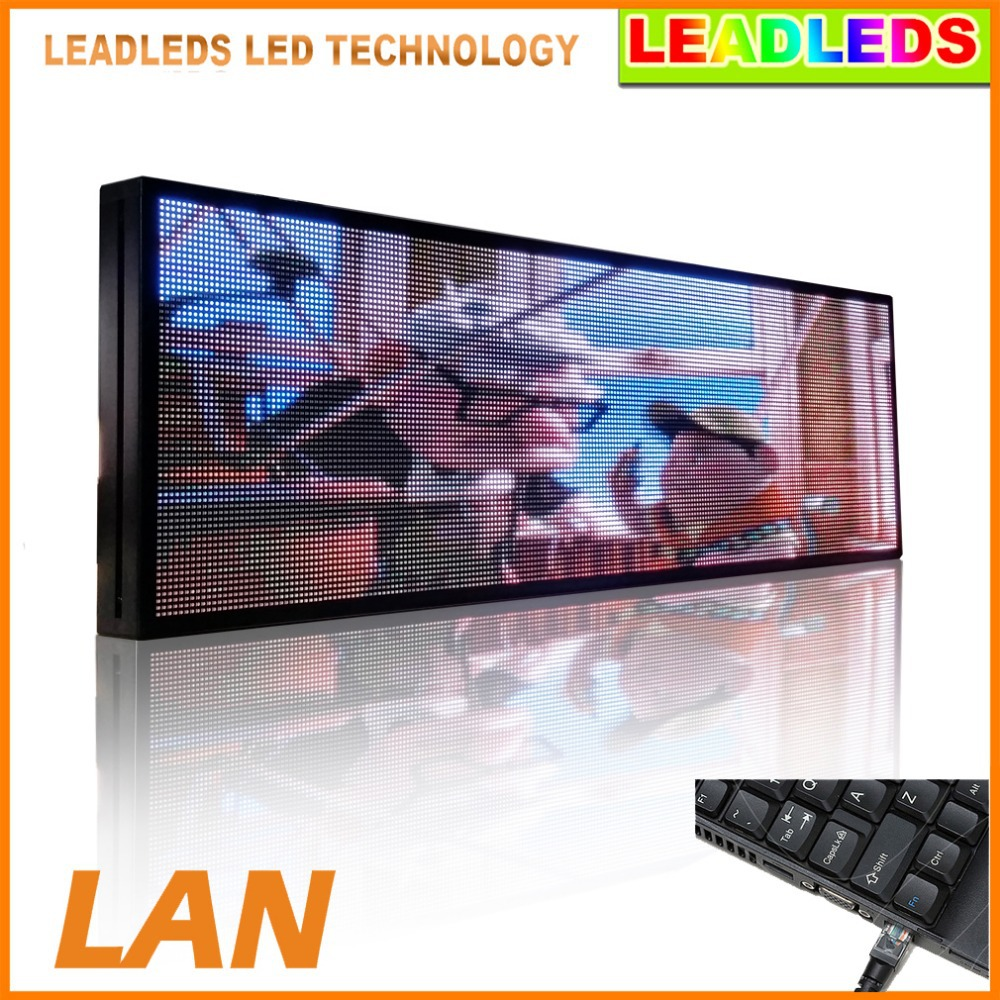39 X 14 Inches P5 SMD Full Color Video LED Sign Programmable Moving Advertising Message Indoor Light For Car Window Display p5 led taxi top roof advertising outdoor full color smd led taxi top sign led electronic dispaly board
