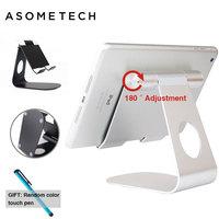 Универсальная Алюминиевая Подставка для планшета Apple iPad  металлическая подставка для iphone x/8 mipad samsung Galaxy tab  держатель