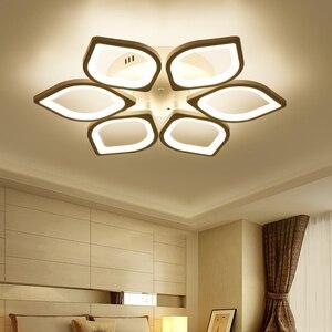 Image 5 - Acrylic Flush LED Ceiling Lights White Light Frame Home Decorative Lighting Fixtures Oval LED Lustre Lamp for Living Room