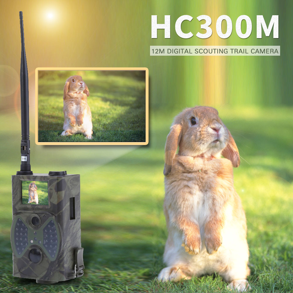 New Photo Traps Photo 12MP 1080P Wildlife Hunting Trail Camera Wild Surveillance Hunting Video Camera MMS Hunting Camera HC300M