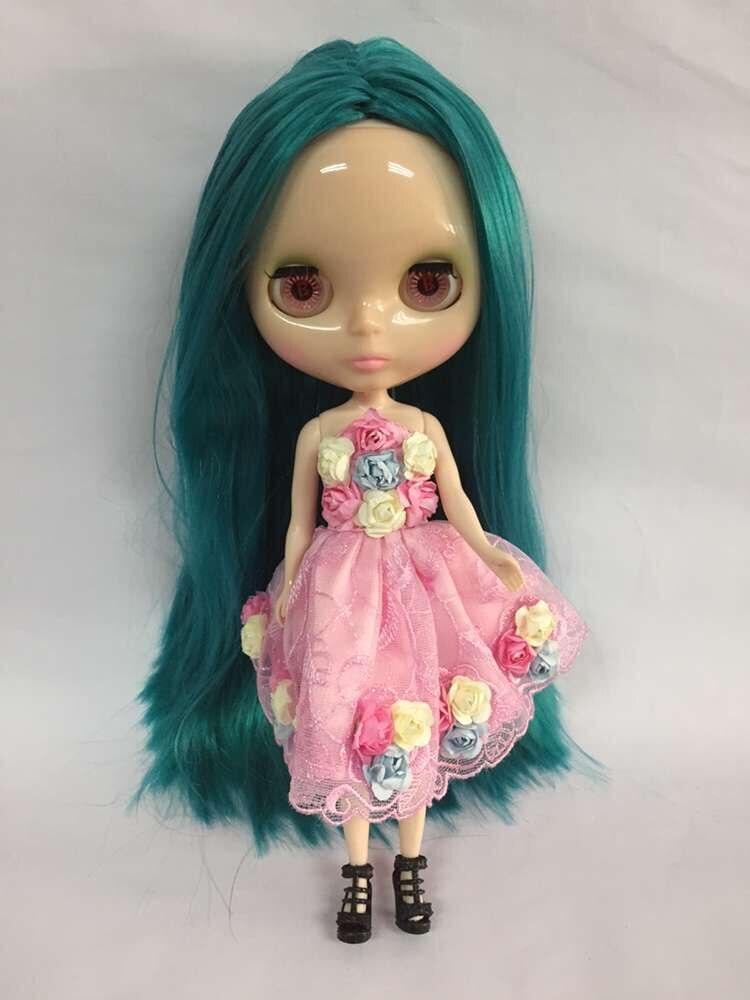 Nude Blyth Doll,green hair Factory doll Fashion doll