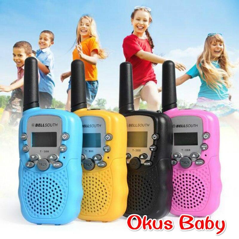2018 um par criancas walkie talkie radio brinquedo criancas presentes radio uhf dois sentidos falando
