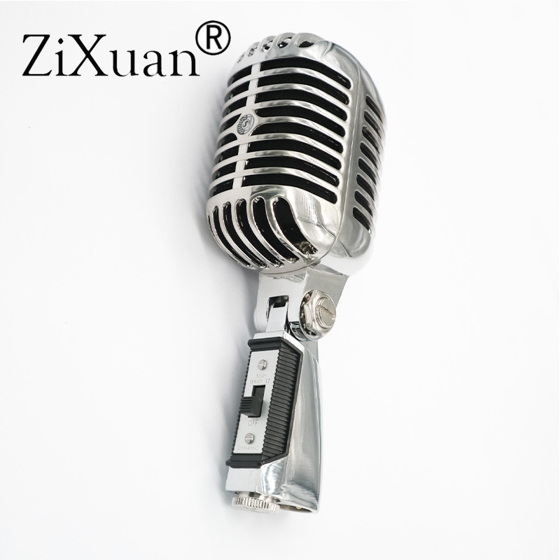 Luxo metal 55sh ii microfone dinâmico profissional vocal clássico estilo vintage microfone 55 sh série ii mic