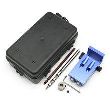 Nuevo Mini Bolsillo Estilo Kreg Jig Kit Sistema Para Trabajar la Madera y carpintería + Step Drill Bit & Accesorios Conjunto de Herramientas de Trabajo De Madera