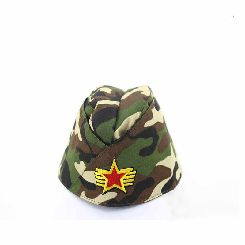 ... Women Miltary Side Cap Foldable Pilotka Garrison Army Caps Cosplay Hat  ... c12fe766e24