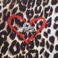EQ 100% шелк leopard красный любовь сердце печати дамы с длинным рукавом блузки Оборудование женщины свободную рубашку спринт осень