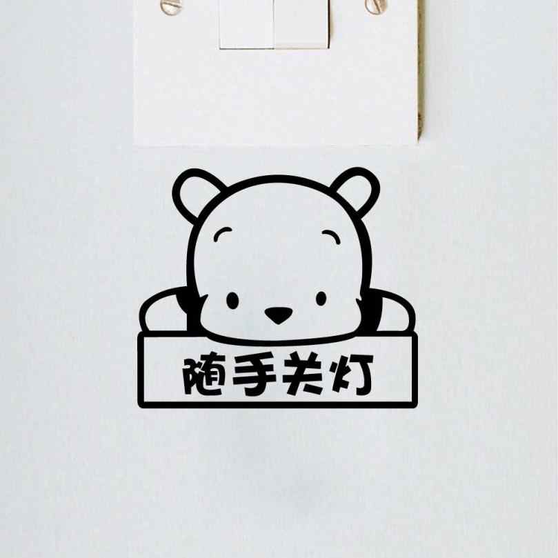 Wall Stickers Light Switch Decor Decals Art Mural Baby Nursery Room