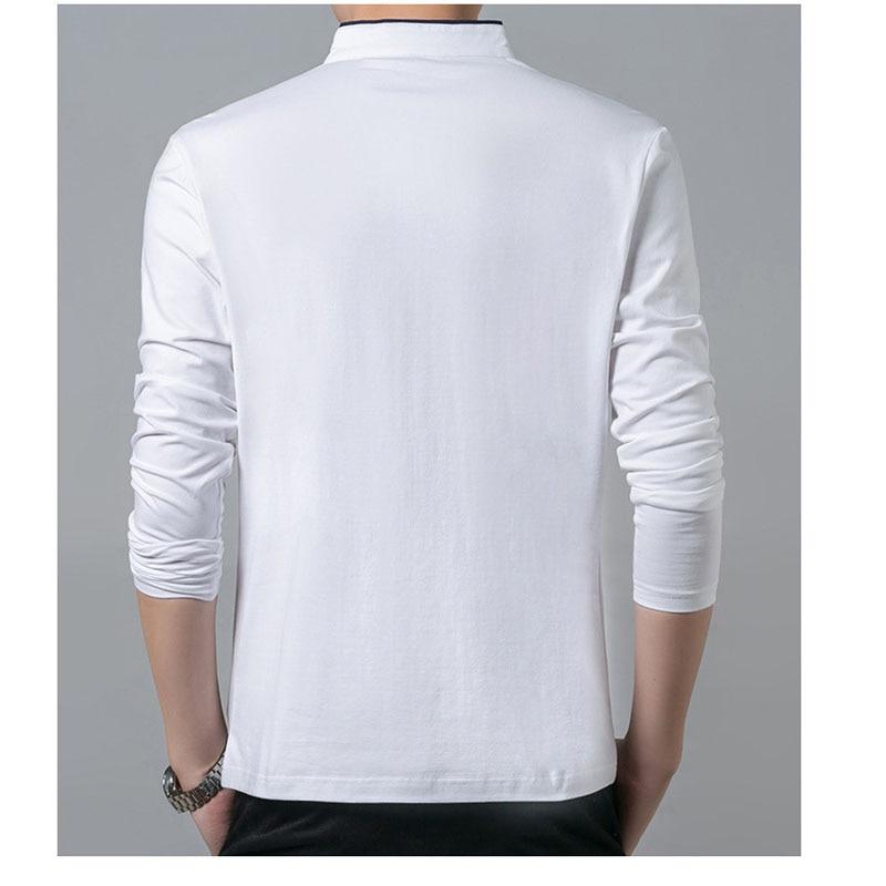 Hohe qualität männer polo hemd herren langarm solide polo shirts - Herrenbekleidung - Foto 6