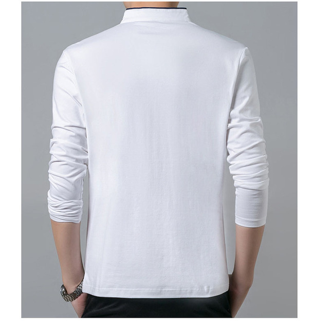 High Quality Men Polo Shirt Mens Long Sleeve Solid Polo Shirts Camisa Polos Masculina Popular Casual cotton Plus size S-3XL Tops 6