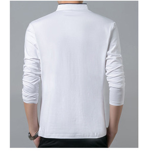 Image 5 - Hoge Kwaliteit Mannen Polo Shirt Heren Lange Mouwen Effen Polo Shirts Camisa Polo Masculina Populaire Casual Katoen Plus Size S 3XL tops