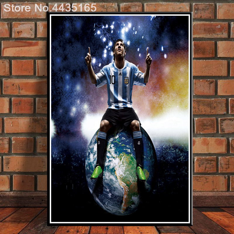 68x101 1440 Lionel Messi - FCB Football Star Soccer 24X36 Art Fabric Wall Poster