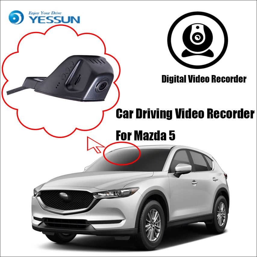 YESSUN Car Front Dash Camera CAM DVR Driving Video Recorder for iPhone Android APP Control Function  for Mazda 5