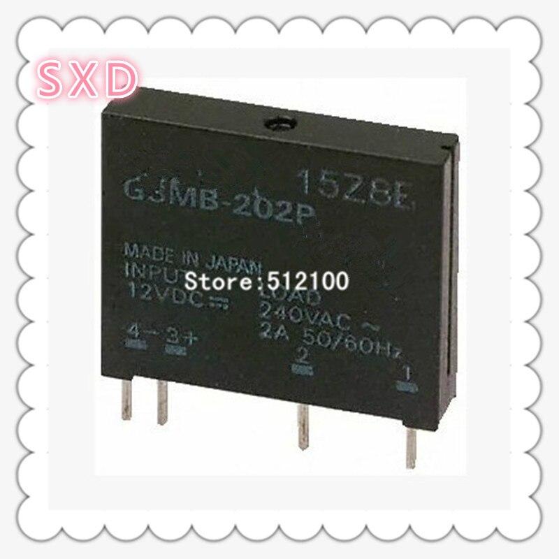 50pcs G3MB 202P 5V 12V 24V DC AC PCB In 12VDC Out 240V AC 2A Solid