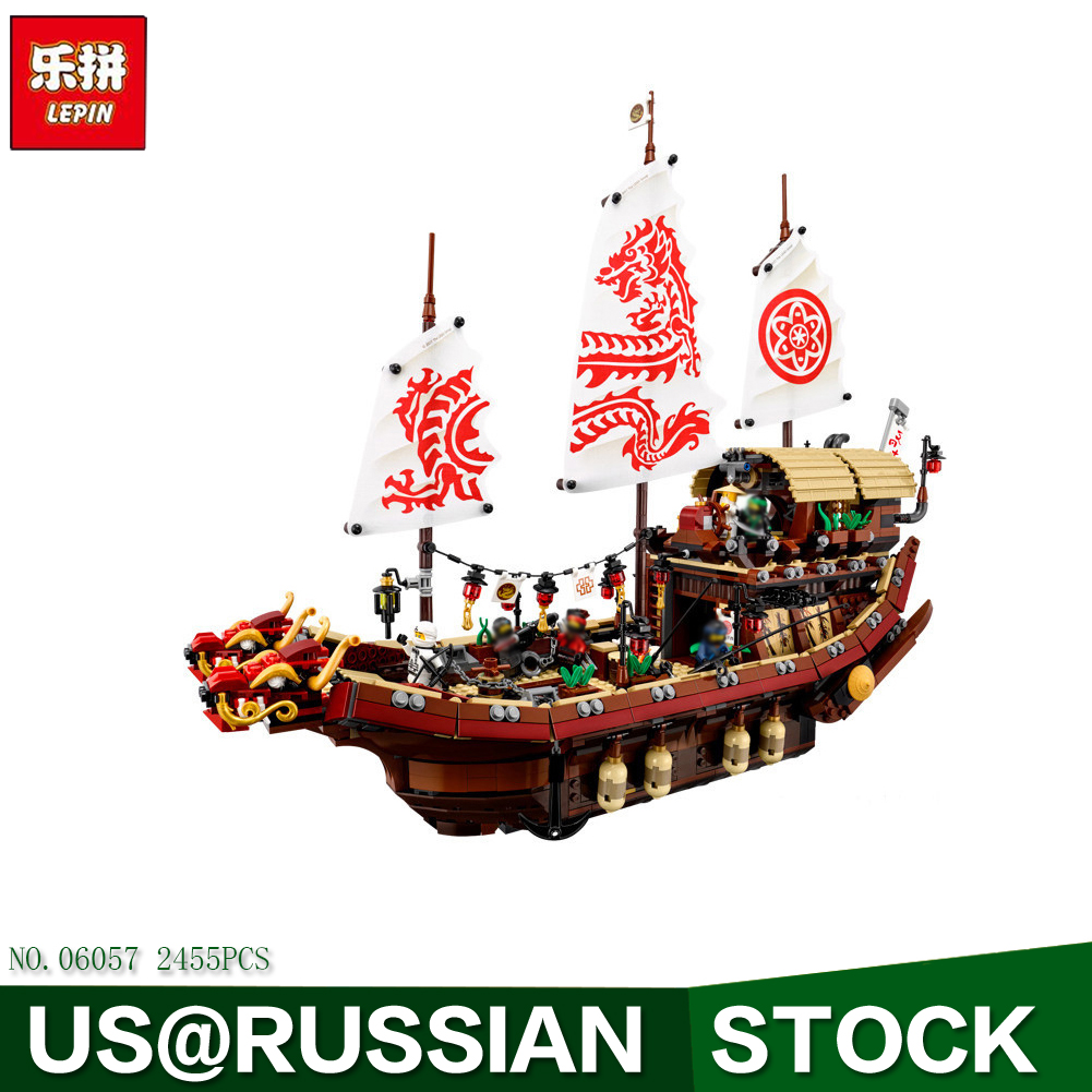 Lepin 06057 Ninja Movie Series Pirate Dragon Ship Final Fight of Destiny Bounty Set Model Building Blocks Bricks Children Toy building block set compatible with lego bang bao fairy series kung fu fight inserted blocks toy mysterious dragon hegemony 6606
