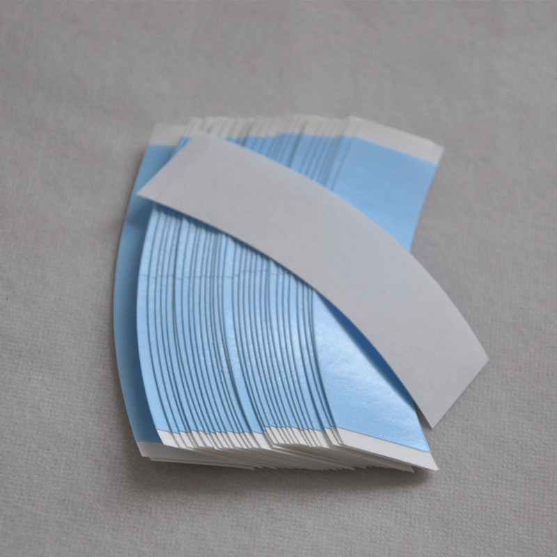 36pcs Blue Lace Front Waterproof Wig Tape Double Adhesive Tape Strips For Toupee/Lace Wig Hair System Adhesive Tape