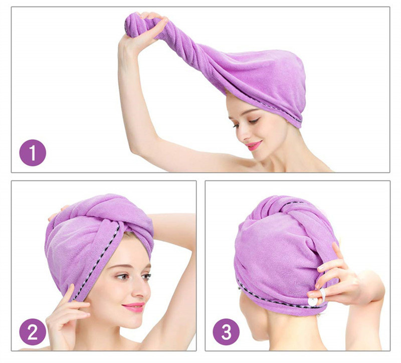 quickly dry hair towel