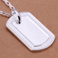 Men's Cool Shield Identify necklace 925 sterling silver 20'' 50cm n272 nice gift pouches/box free Colar de Prata