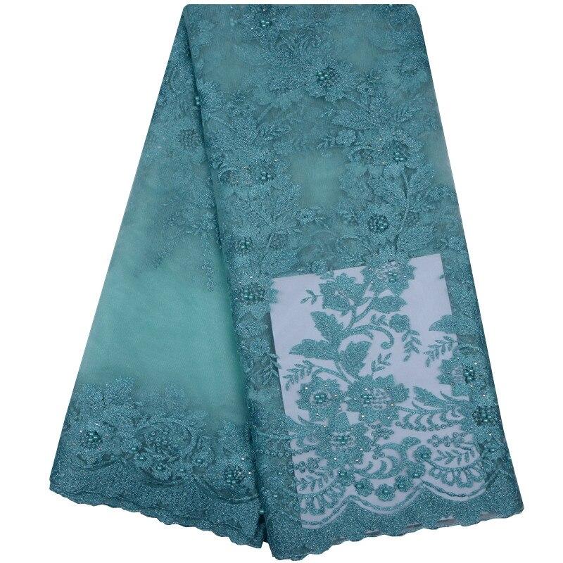 Escuro azul marinho africano rendas tecidos rosa