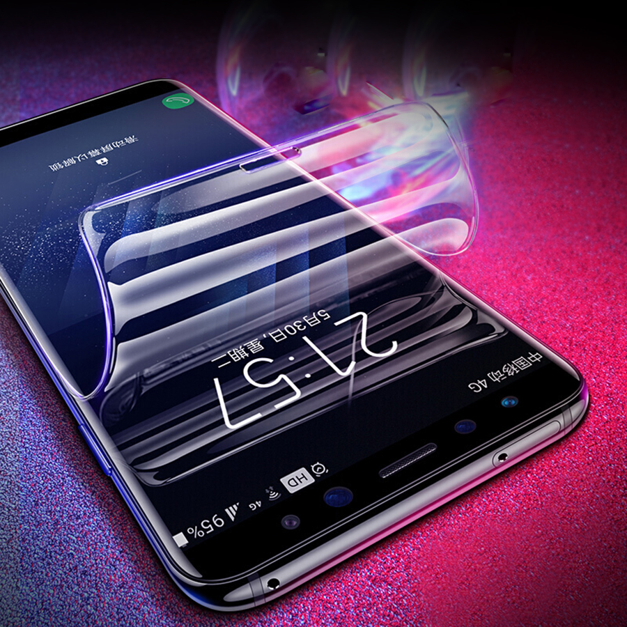 For Samsung Galaxy <font><b>S10</b></font> S9 S8 PLUS S10E Note 9 8 A8 PLUS A7 2018 Full Cover Screen Protector Silicone TPU Film Hydrogel <font><b>Sticker</b></font> image