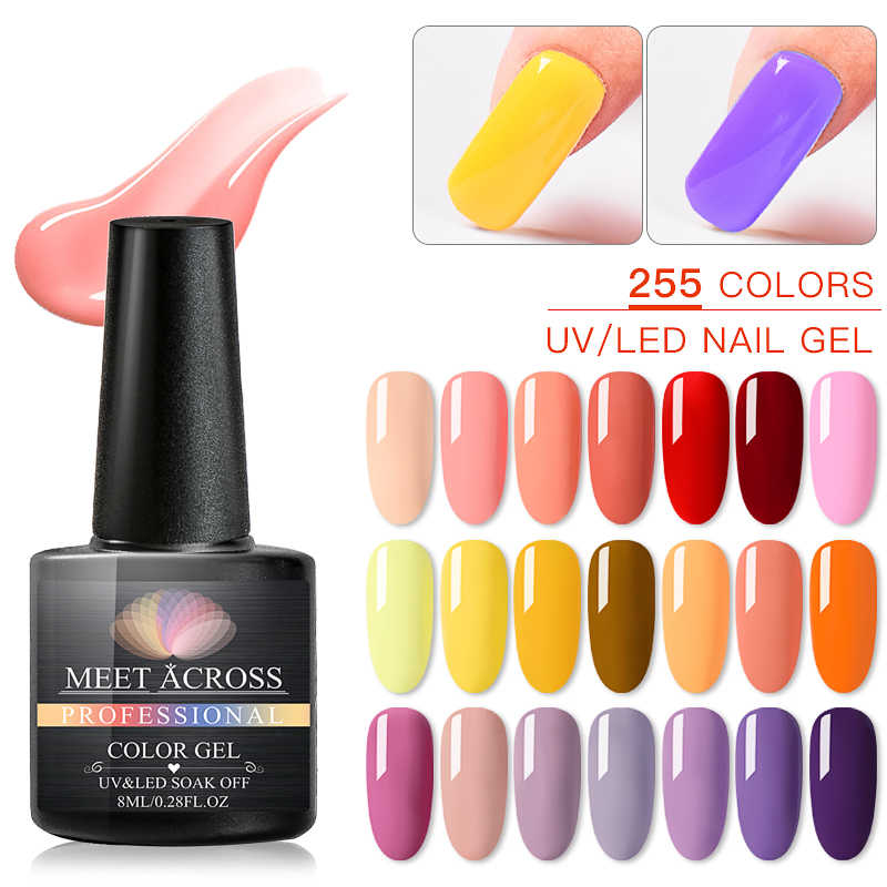 SODDISFARE IN TUTTO 8ml Uv del Gel del Chiodo Top Uv del Gel Del Led Unghie artistiche Vernice Hybrid Soak Off Gel Lacca Fortunato vernice del chiodo Del Polacco del Gel