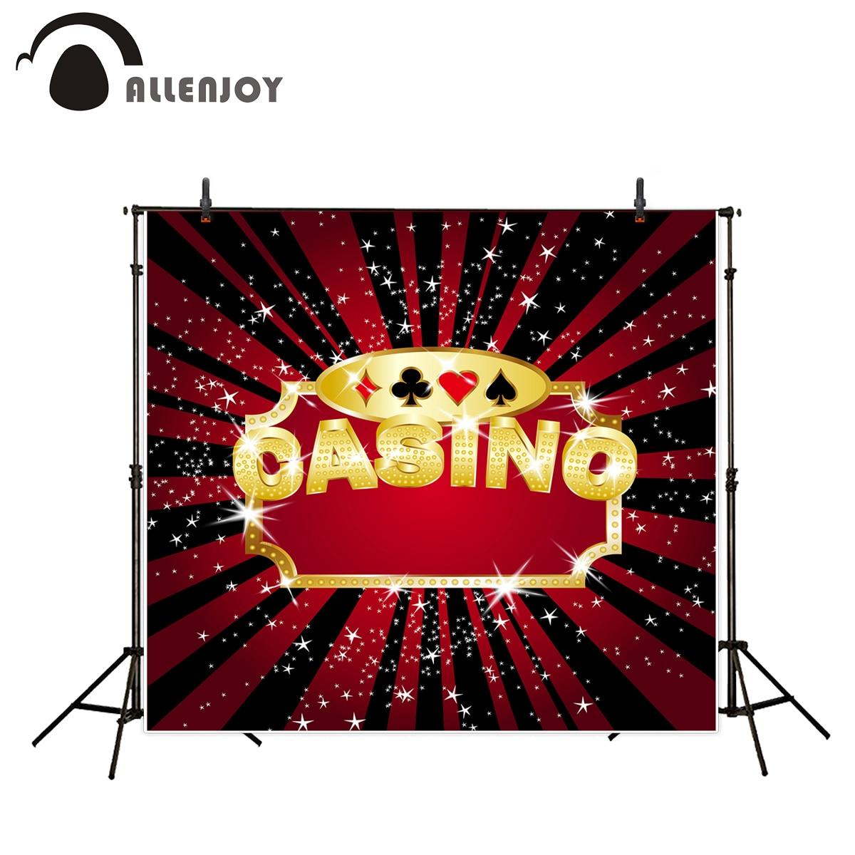 Allenjoy photo background Casino shiny golden stars glitter sparkle photo backdrops vinyl backdrops for photography