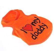 Durable Cute Dog Puppy Pet Vest Clothes Shirt Apparel Hot Orange M