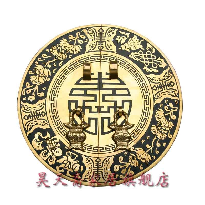 [Haotian vegetarian] antique copper flower-shaped handle doorknob antique furniture copper fittings HTB-087 james martin