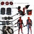 Linglong alta calidad Deadpool accesorios Deadpool cinturón Deadpool Logo Deadpool guantes sistema entero