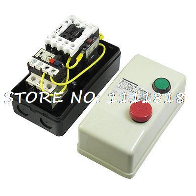 On Off Switch Enclosed 3 Pole Motor Magnetic Starter 380V Coil 5.5-8.5A chint electromagnetism starter magnetic force starter qc36 10t motor starter phase protect magnetic force switch
