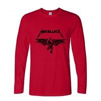 2016 New Long Sleeve Cotton Casual Classic Heavy Metal Metallica Rock Men S T Shirt Masculina