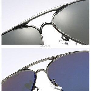 Image 5 - AOWEAR marka projektant spolaryzowane okulary mężczyźni lotnictwa powłoka lustrzane okulary przeciwłoneczne dla mężczyzny kobiety óculos gafas lentes de sol