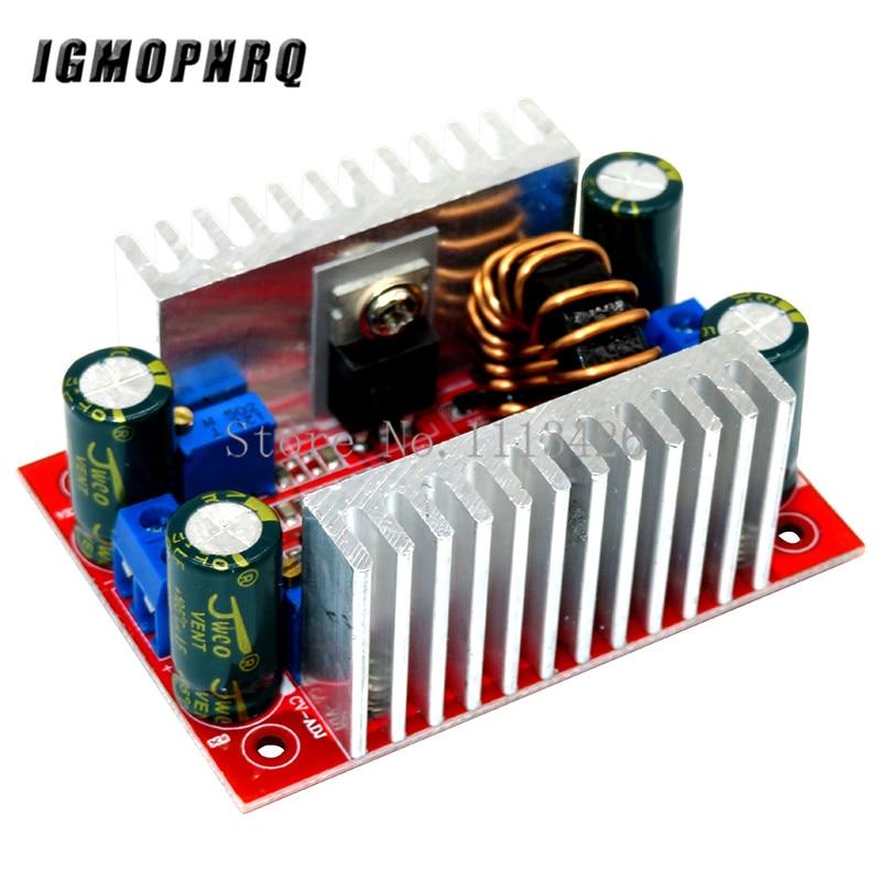 Модуль повышения мощности, 400 Вт, 15 А, светодиодный Повышающий Модуль с постоянным питанием от 8,5 в-50 в до 10 в-60 в