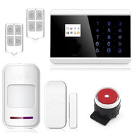 2015 New Intercom Home Security Wireless GSM Alarm System Support Russian Spanish French Language