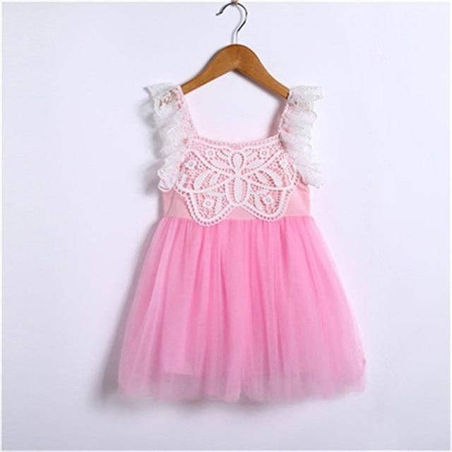 48219c1929ac Toddler Kids Baby Girls Princess Dress Pageant Party Wedding Tutu ...