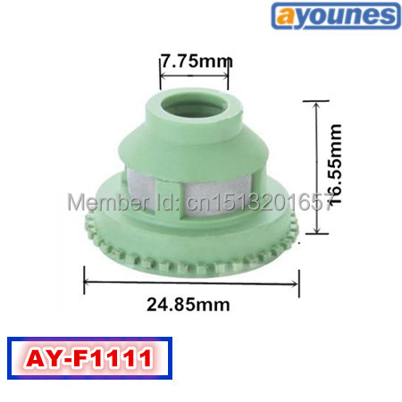 ФОТО 500units UP fuel injector filter FOR NOZZLE OEM 0280150698(size:24.85*16.55*7.75mm,AY-F1111)