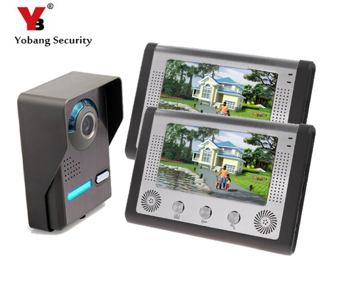 Yobang Security Apartment Door Phone System Kit Wired 7