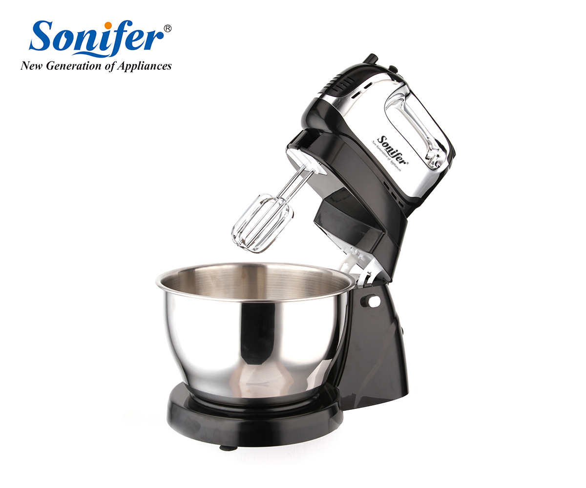 Multifunction Large size Table Electric Food Mixers Dough Mixer Egg Beater 220v Food Blender for Kitchen Sonifer jiqi multifunction table electric food mixer table handheld egg beater blender for baking with 7 speed automatic whisk eu usplug