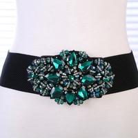 Diamond gem widen the waistband cinturon mujer belts for women Dress accessories waistband
